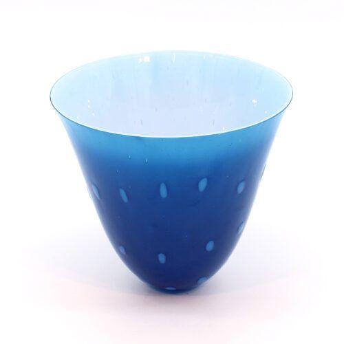 Glasskål blå