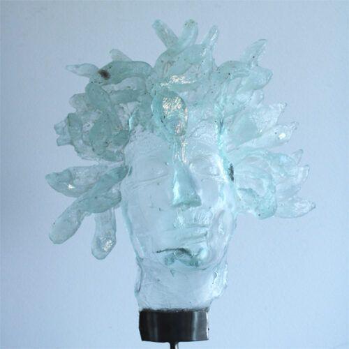 Glasskulptur Medusa